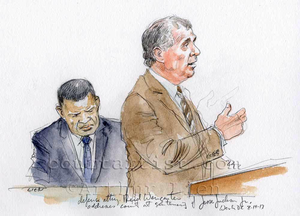 Sketch: Jesse Jackson Jr sentencing