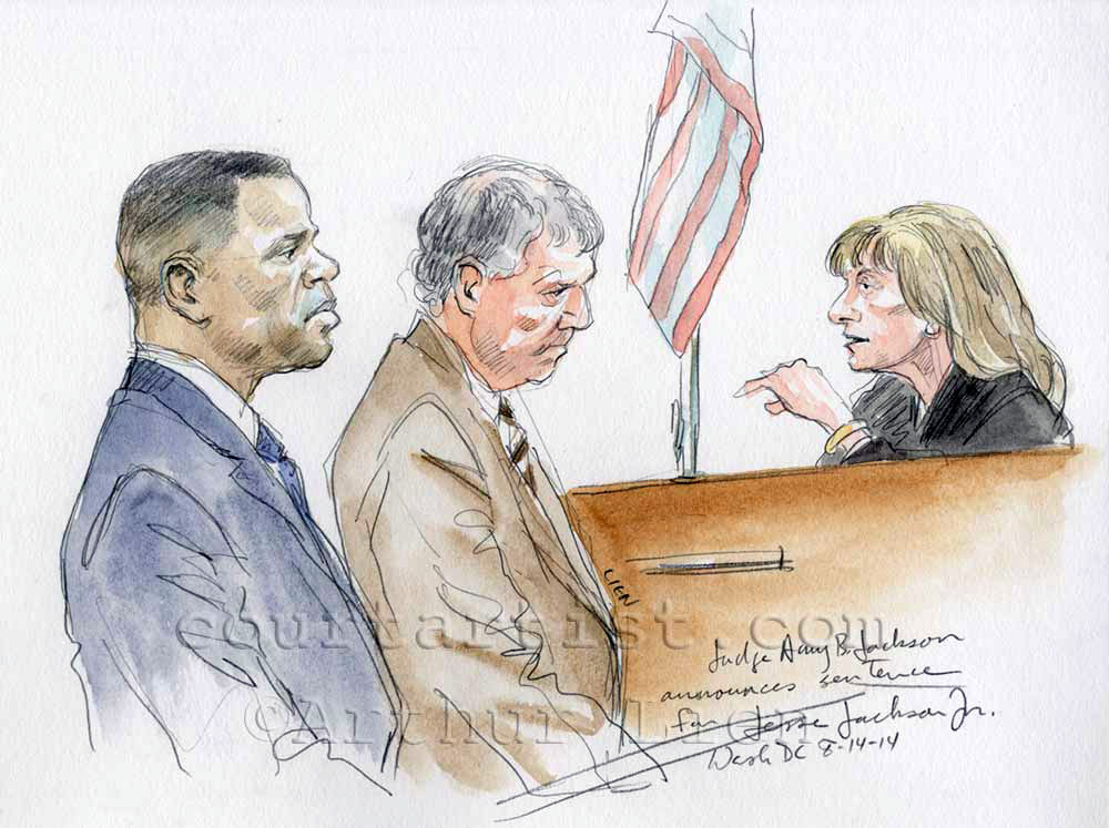 Sketch: Jesse Jackson Jr sentenced