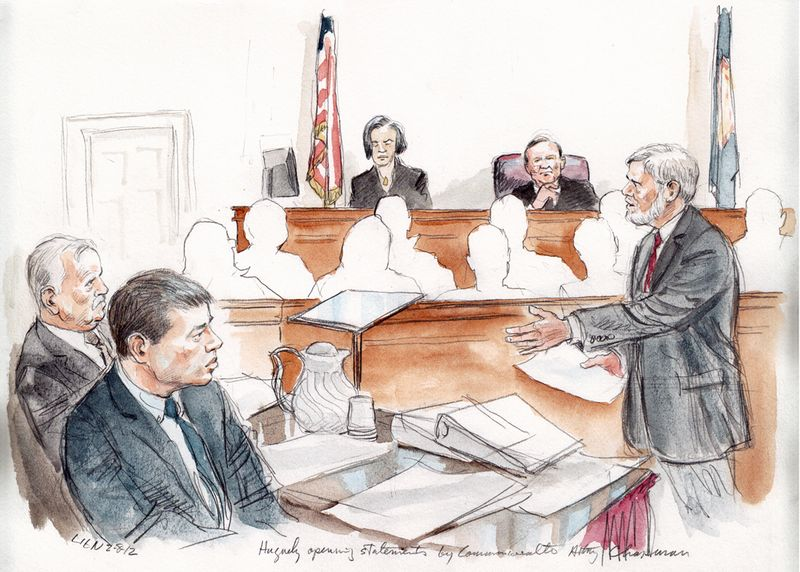 opening statements and witness testimony courtartist