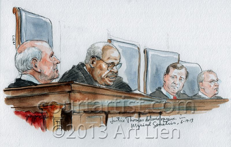 Justice Thomas on Myriad Genetics