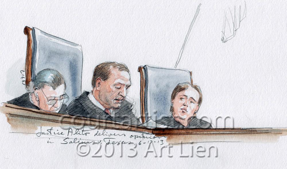 Sketch: Justice Alito