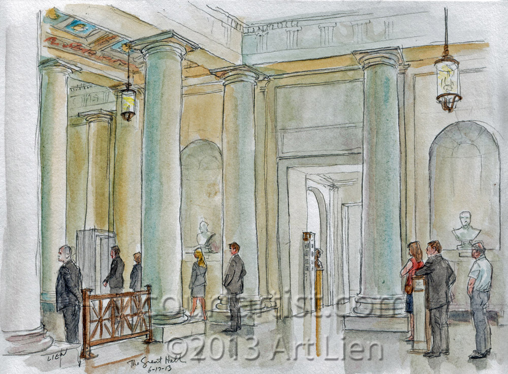 Sketch: Supreme Court's Great Hall
