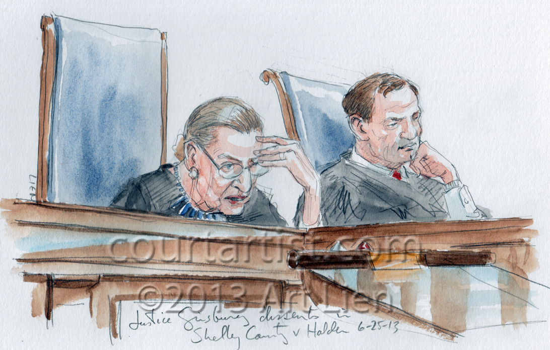 Sketch: Justice Ginsburg dissents
