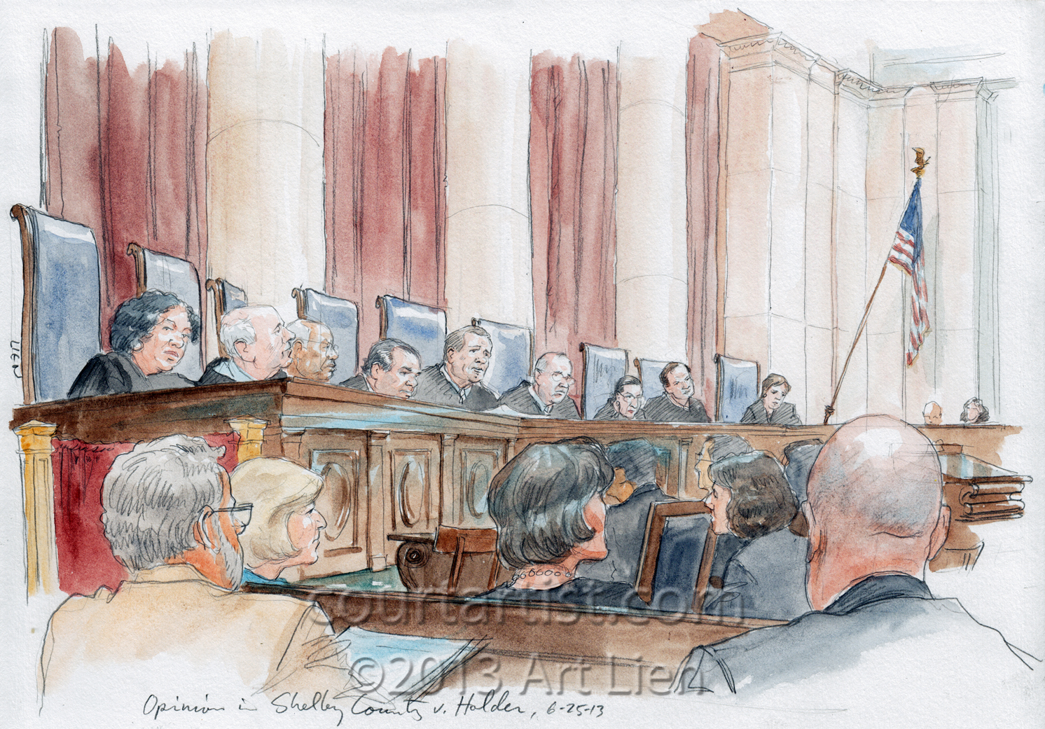 Sketch: SCOTUS opinion in Shelby County v Holder