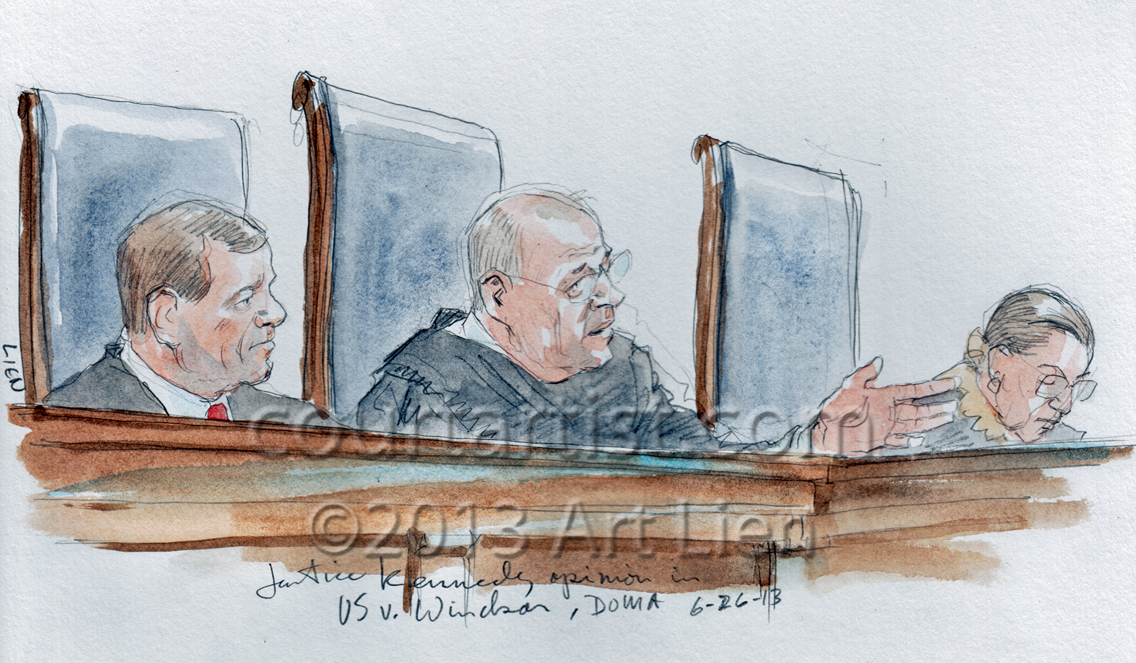 Sketch: Justice Kennedy announces DOMA opinion
