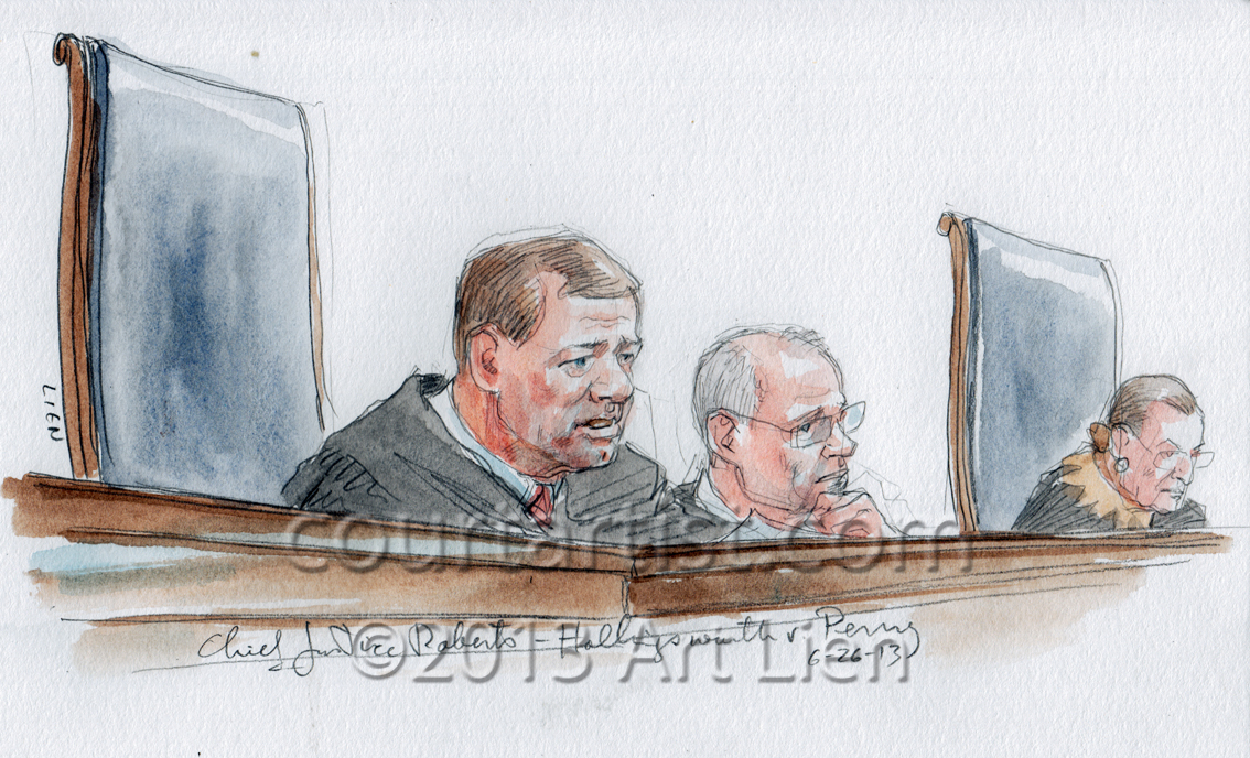 Chief Justice Roberts announces opinion in Prop. 8 case