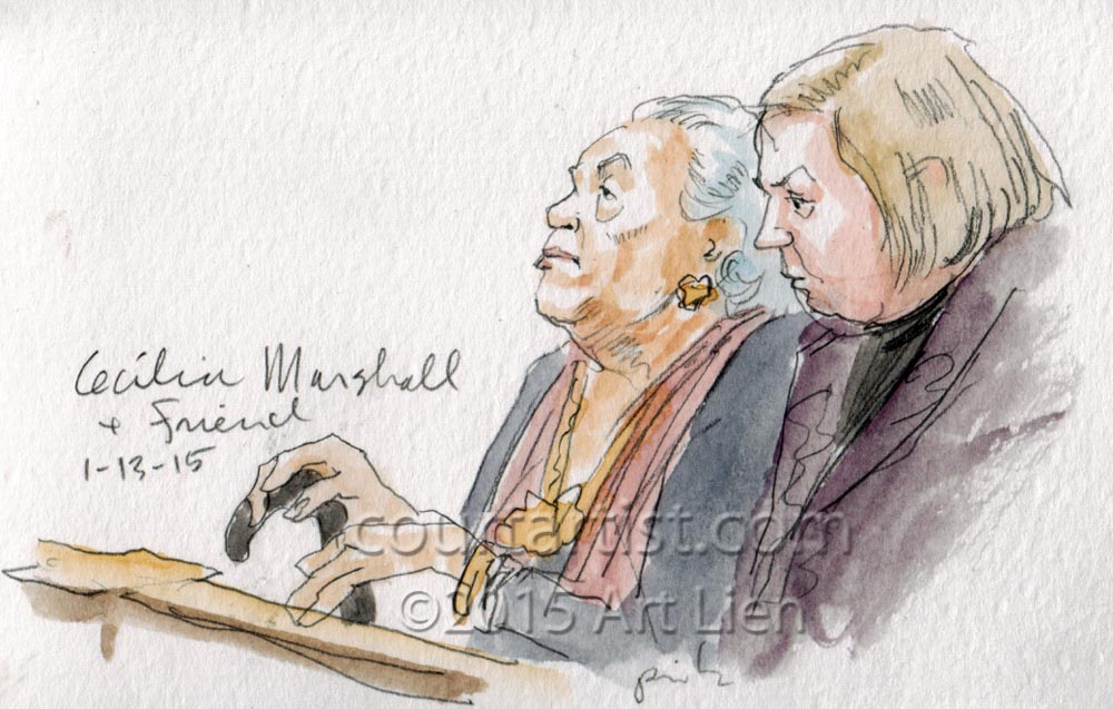 Cecilia Marshall visits Supreme Court