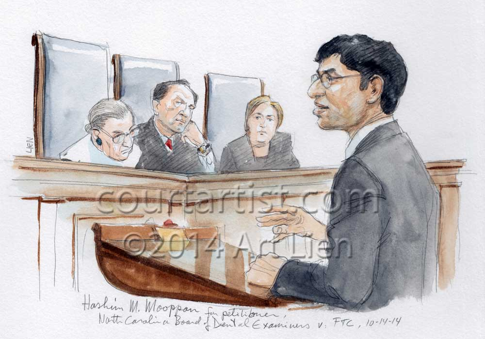 SCOTUS-sketch-Dental-Examiners-FTC-SC141014_Mooppan