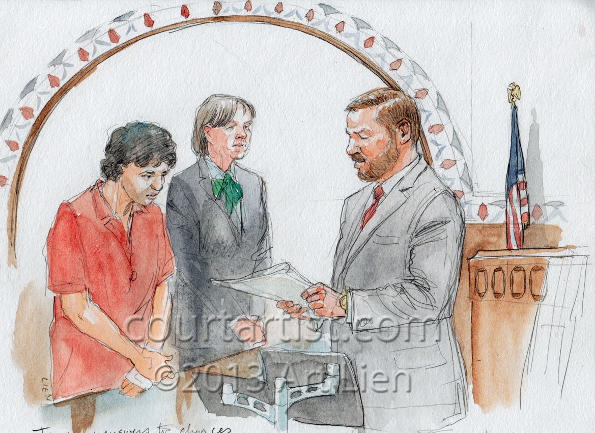 Sketch: Tsarnaev arraigned