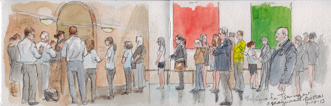 Tsarnaev arraignment sketch