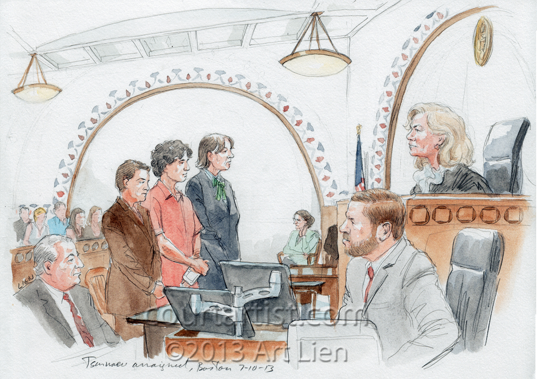 Sketch: Tsarnaev arraignment