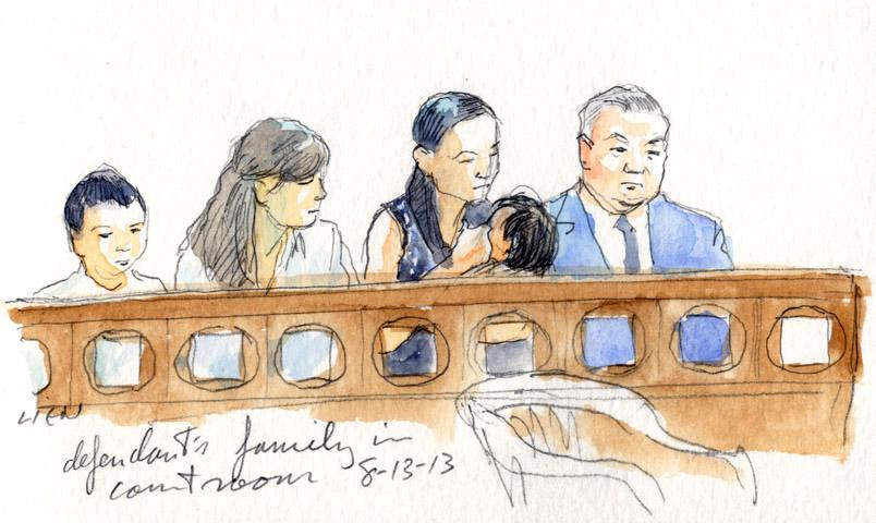 Sketch: Tazhayakov's family