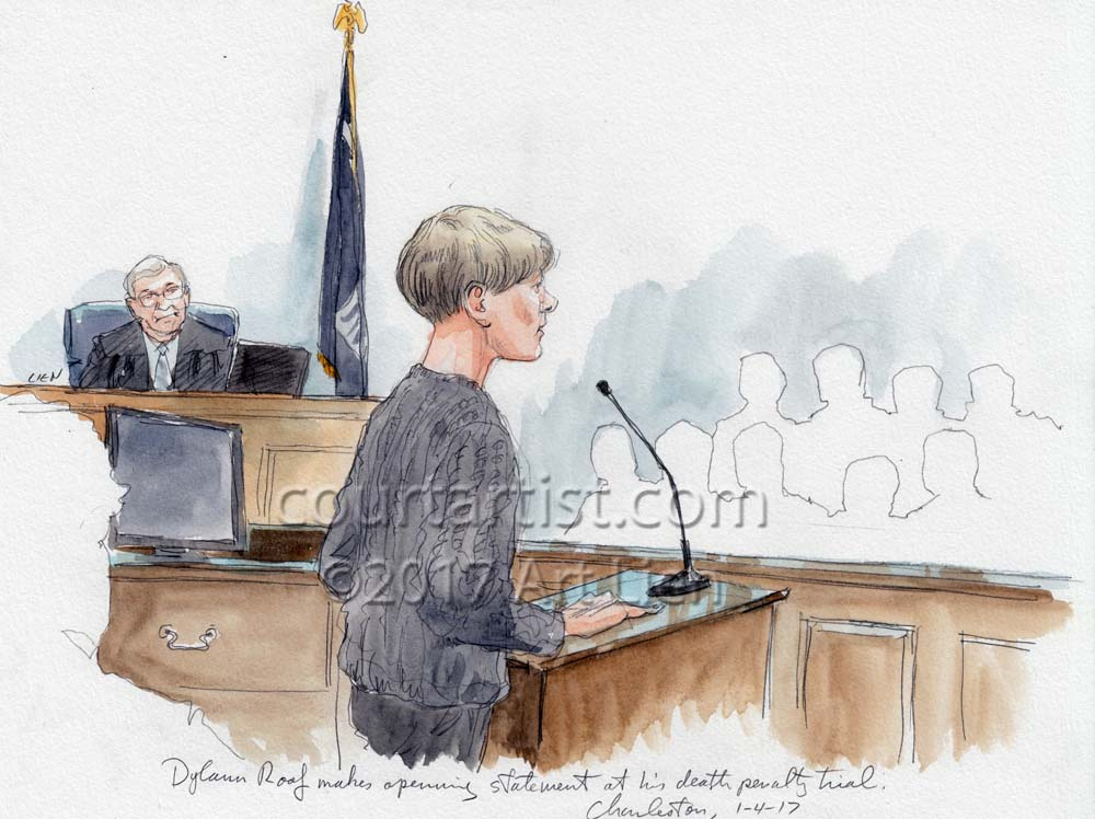 Dylann Roof Death Penalty Trial Courtartist