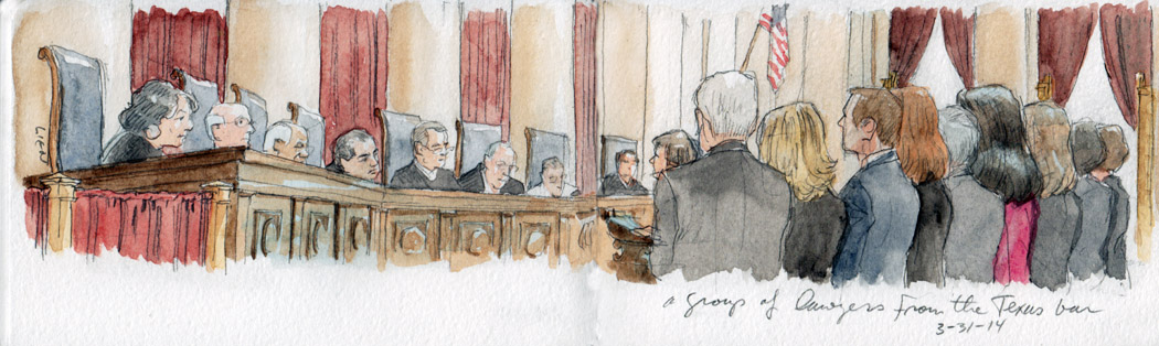 SCOTUS Sketch: Admissions to the Bar