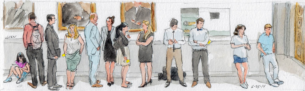 SCOTUS Sketch: spectators