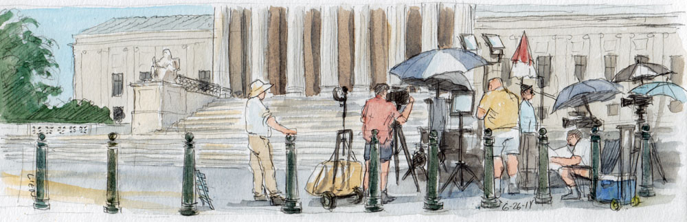 SCOTUS Sketch: TV Crews