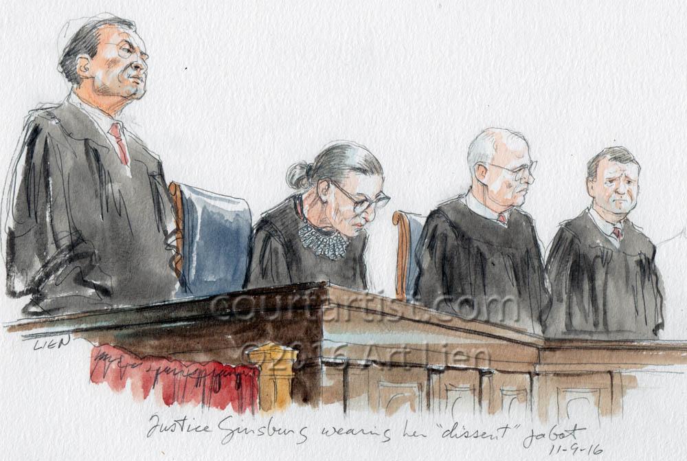 Ginsburg's Dissent Jabot