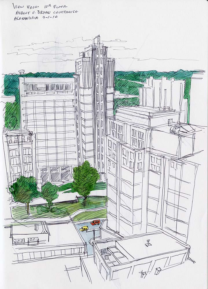 Sketch: from 10th floor