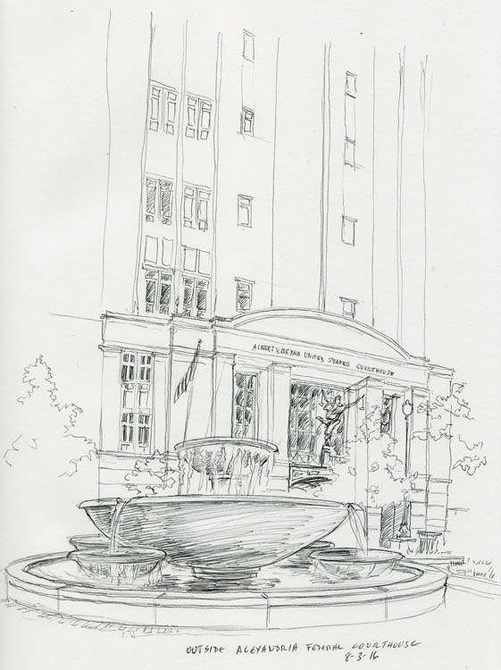 Sketch: Alexandria Courthouse
